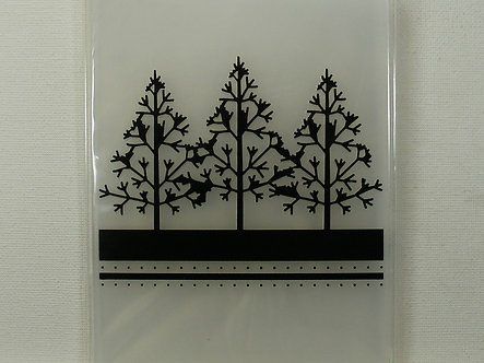 Ultimate Crafts - Winter Trees Embossing Folder A2