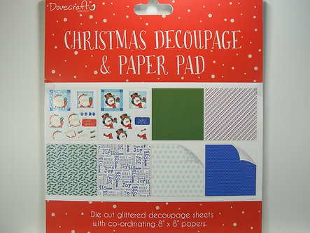 Dovecrafts - Christmas Decoupage Pad (Red)