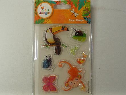 Jojo's Jungle Tropical Clear Stamp Set