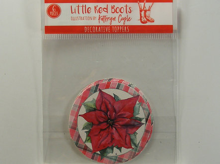 Little Red Boots - Decorative Toppers - Poinsettia.