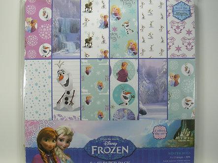 """Disney's Frozen - Winter Hugs 8"""" x 8"""" Paper Pack"""