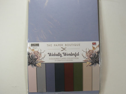 Paper Boutique - Wickedly Wonderful Colour Card Collection