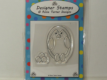 Rosie Turner - Clear Stamp - Penguin