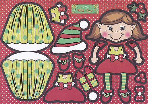 Kanban - Evie The Elf Wobbler Card Kit