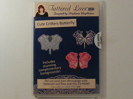 Tattered Lace - Cute Critters Butterfly CDrom.
