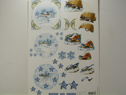 Marianne Design - Images For Winter Decoupage Sheet.