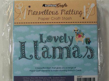 Kanban - Lovely Llamas Paper Stash