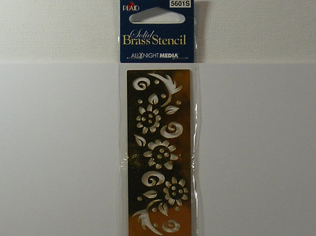 Plaid - Solid Brass Stencil - Floral Border