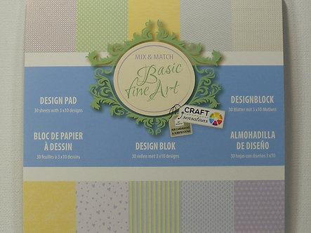 "Craft Sensations - Basic Fine Art 6"" x 6"" Paper Pad"