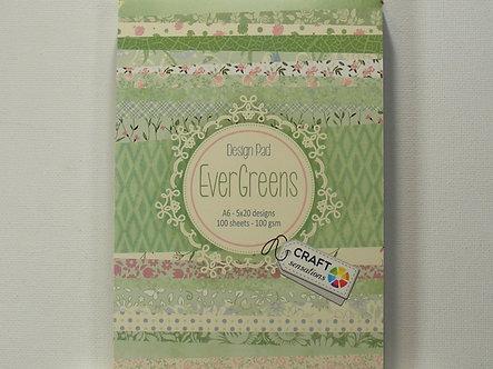 Craft Sensations - Evergreens A6 Design Pad.