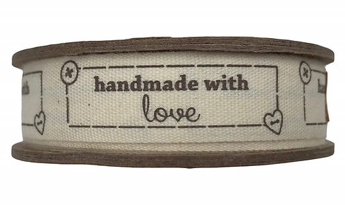Bowtique - Handmade With Love Natural Ribbon