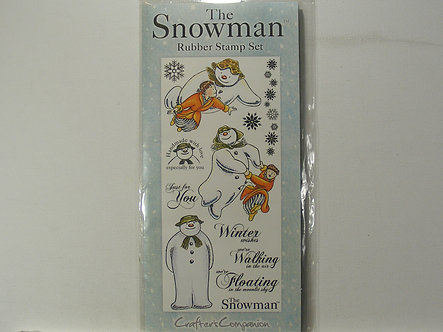 Crafters Companion - The Snowman Rubber Stamp Set