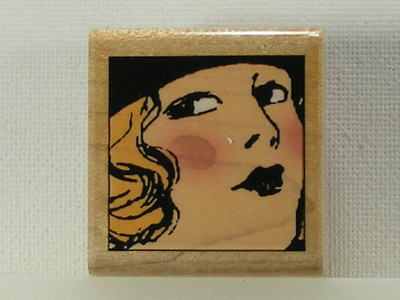 Hampton Arts - Bree No.3 Wood Mounted Rubber Stamp