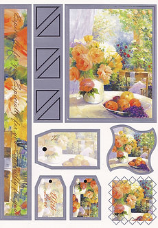 Country Cottage Table A5 Topper & Tags Sheet