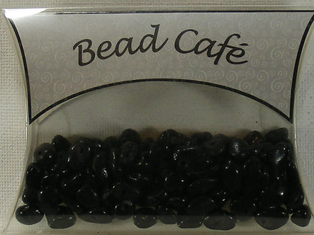 Bead Cafe - Black Glass Bead Chips (40gms)