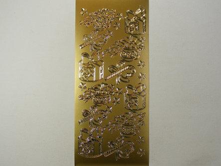 Craft Peel Offs - Christmas Items (Gold).