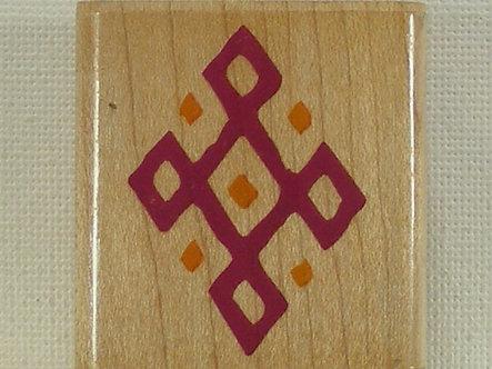 Rubber Stampede - Diamond Border Tile Rubber Stamp