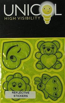 Unicol Hi Vis Stickers - Cute Yellow