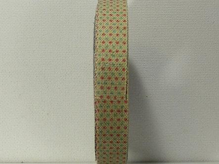 Create & Craft - Jute Printed Ribbon - Go Dotty