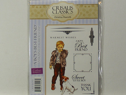 Crafters Companion - A Boy's Best Friend Rubber Stamp