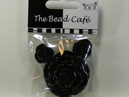 Bead Cafe - Black Resin Flowers