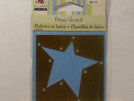 Plaid - Brass Stencil - Star Frame