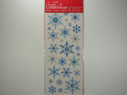 Docrafts - Create Christmas Stickers - Snowflakes.