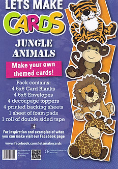 Craftstyle - Lets Make Cards - Jungle Animals