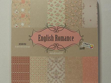 "Craft Sensations - English Romance 6"" x 6"" Paper Pad."