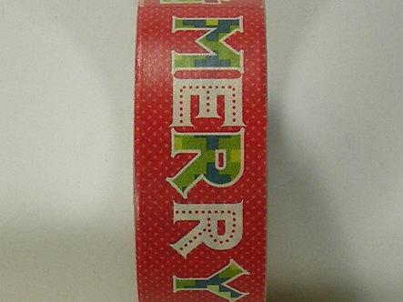 Christmas Craft - Merry Washi Tape