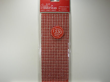 Docrafts - Create Christmas Adhesive Stones (Red)