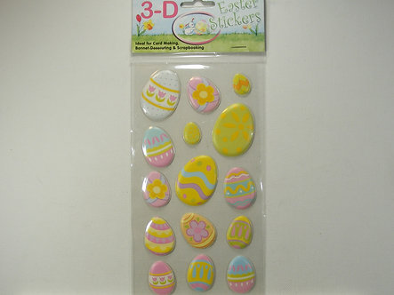 3-D Easter Stickers - Easter Eggs