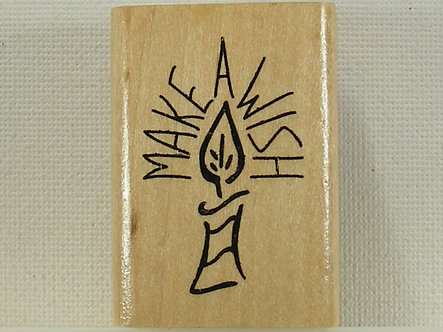 Anita's - Make A Wish Birthday Candle Rubber Stamp