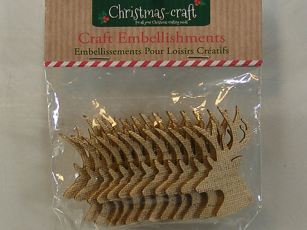 Christmas Craft - Reindeer Head Embellishments.