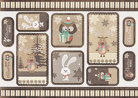 Kanban - Cute Christmas Winter Scenes (Natural)
