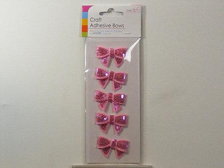 Craft Adhesive Bows (Pink)
