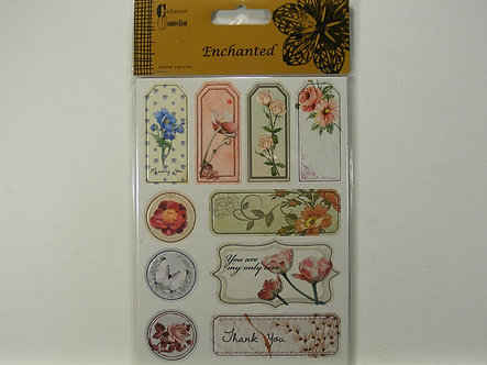 Craftime - Enchanted Chipboard Stickers, Fauna.