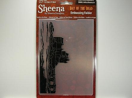 Sheena Douglass Day of the Dead Embossing Folder - Castle on the Water