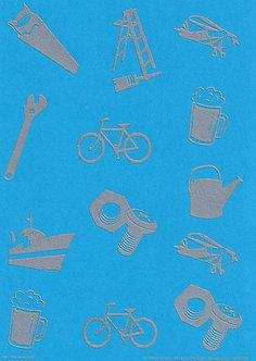 Art & Crafts Direct - Mini-Mens A5 Bkg Card (Blue)