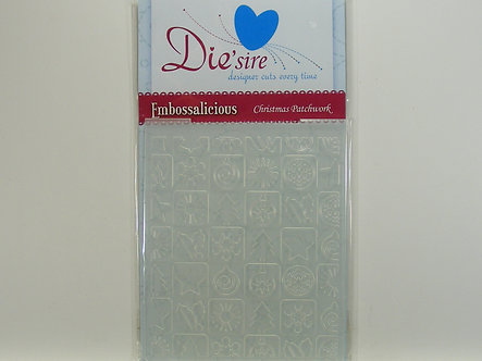 Die'sire - Embossalicious Christmas Patchwork Embossing Folder