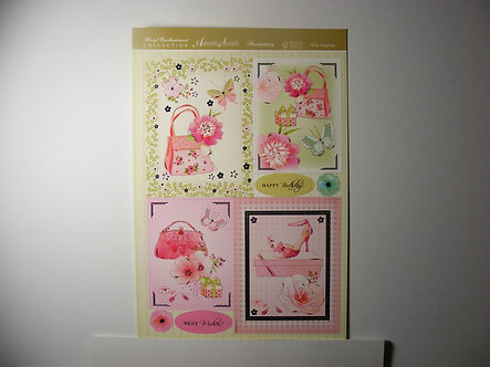 Hunkydory - Girly Surprise Topper Sheet.