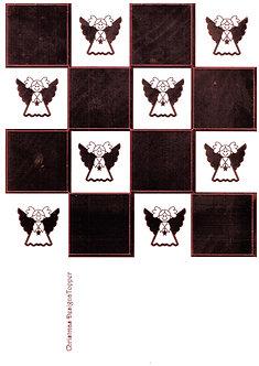 Christmas Designa Topper - Red Metallic Foiled Angels Sheet