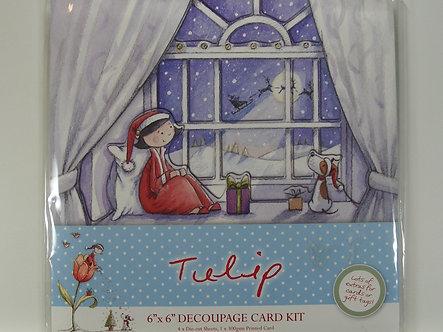 "Docrafts - Tulip Xmas 6"" x 6"" Decoupage Card Kit - Santa's Coming"