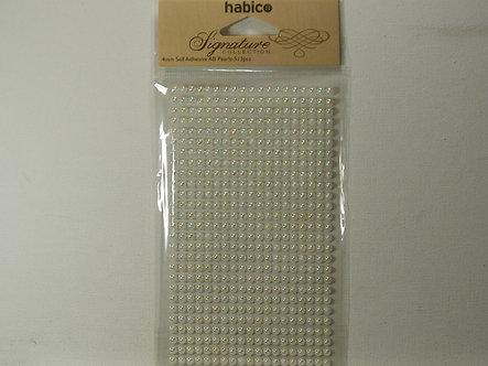 Habico - Signature Collection Cream 4mm Round Pearls