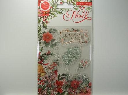 Craft Consortium - Noel - Flora Clear Stamps