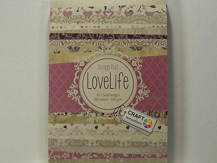 Craft Sensations - Lovelife A6 Design Pad.