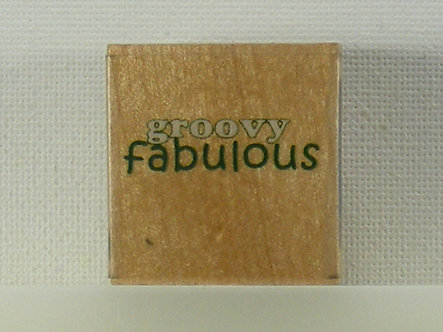 Docrafts - Whispers Rubber Stamp - Groovy Fabulous