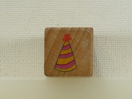 Unbranded - Party/Clowns Hat Wood Mounted Rubber Stamp