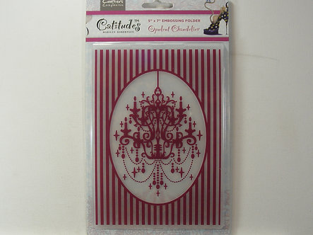 Crafters Companion - Catitude Opulent Chandelier Embossing Folder