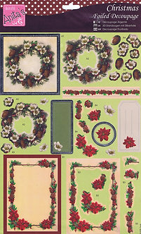 Docrafts - Anita's Christmas Foiled Decoupage - Wreaths